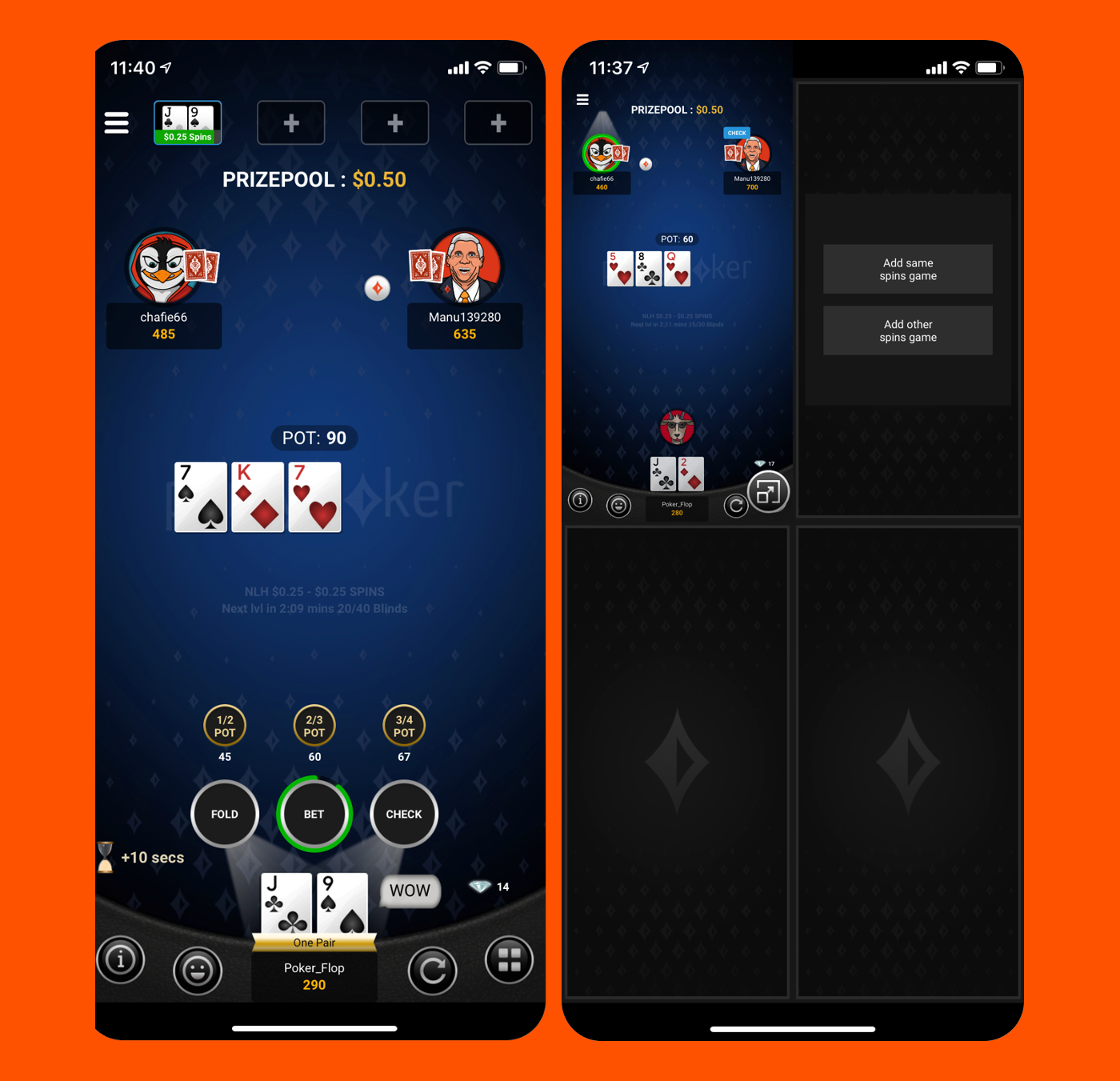 Partypoker S New Mobile App First Look The Portrait Table F5 Poker